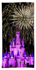 Wishes Fireworks Disney World  Beach Towel
