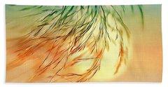 Wispy Sunset-0 Beach Sheet by Nina Bradica