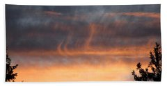 Wispy Sunset Beach Towel
