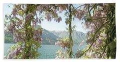 Wisteria Trellis Lago Di Como Beach Towel by Brooke T Ryan