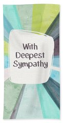 With Deepest Sympathy- Art By Linda Woods Beach Towel
