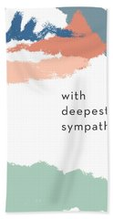 With Deepest Sympathy- By Linda Woods Beach Towel