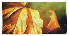 Beach Towel featuring the photograph Withered Leaves by Silvia Ganora