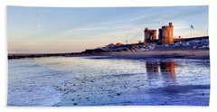 Withernsea Sunset And Moon Beach Towel