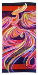Beach Towel featuring the painting Without Darkness There Is No Radiance by Denise Weaver Ross