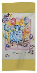 Wizard Boy Beach Sheet by Rita Fetisov