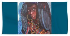 Virtuous Wodaabe Girl          From The Attitude Girls  Beach Towel