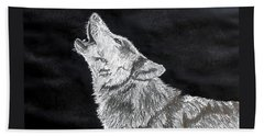 Wolf Howl Beach Towel