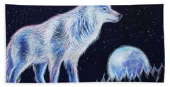 Wolf Moon Beach Towel