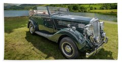 Beach Towel featuring the photograph Wolseley Classic Car by Adrian Evans