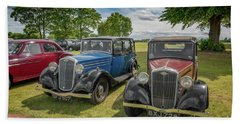 Beach Towel featuring the photograph Wolseley Motors by Adrian Evans