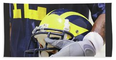 Wolverine Cradles Helmet Beach Towel