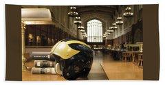 Wolverine Helmet In Law Library Beach Sheet