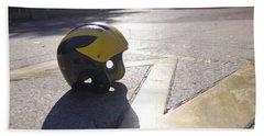 Wolverine Helmet On The Diag Beach Sheet
