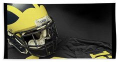 Wolverine Helmet With Jersey Beach Towel