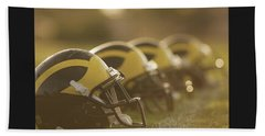 Wolverine Helmets Sparkling In Dawn Sunlight Beach Towel