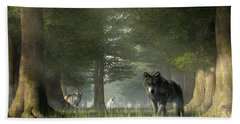 Wolves In The Forest Beach Towel