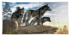 Wolves On The Hunt Beach Towel