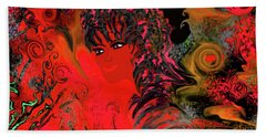 woman art Beautiful Brazilian Woman Beach Sheet