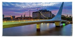 Woman Bridge 01 Beach Towel by Bernardo Galmarini