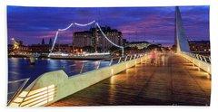 Woman Bridge 02 Beach Sheet by Bernardo Galmarini