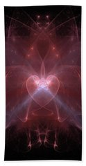 Woman Heart Aglow Beach Towel