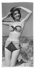 Woman In Bikini, C.1950s Beach Towel
