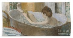 Woman In Her Bath Beach Towel