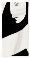 Woman In Shadows Beach Towel