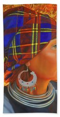 Woman In The Shadow Beach Towel