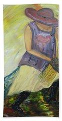 Woman Of Wheat Beach Towel