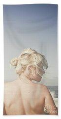 Woman Relaxing On The Beach Beach Sheet by Jorgo Photography - Wall Art Gallery
