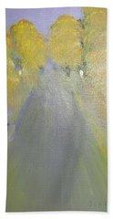 Woman Walking In Evening Beach Towel