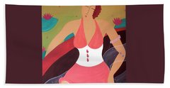 Women In A Boat Beach Towel