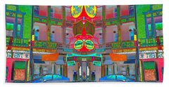 Beach Towel featuring the photograph Won Kow, Wow 1 by Marianne Dow
