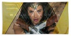 Wonder Woman Art Beach Towel by Marvin Blaine
