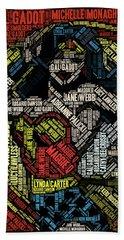Wonder Woman Actress Mosaic Beach Sheet