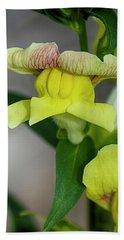 Wonderful Nature - Yellow Antirrhinum Beach Towel
