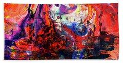 Wonderland - Colorful Abstract Art Painting Beach Sheet