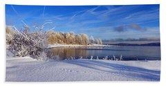 Wondrous Winter Beach Sheet