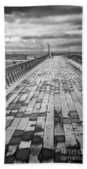 Wood And Pier Beach Sheet by Perry Webster