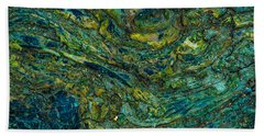 Wood Burl Abstract Beach Towel by Bruce Pritchett