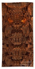 Wood Carving Beach Towel