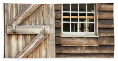 Wood Door And Window Beach Sheet