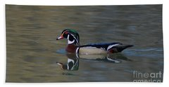 Wood Duck - Male Beach Towel