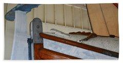 Wood Sailboat Details Beach Sheet