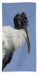 Wood Stork Portrail Beach Towel