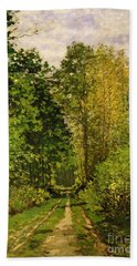 Wooded Path Beach Towel