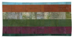Wooden Abstract Lll Beach Towel