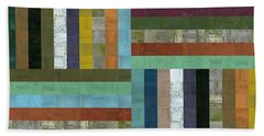 Wooden Abstract V  Beach Towel